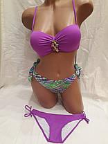 Купальник 66251 Суперпуш с двумя трусами  фиолетовый ,идет на наши 48,50 размеры. , фото 3