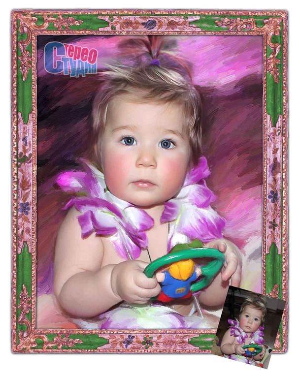 Портрет любимой дочке ! 12
