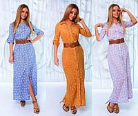 Длинное платье-рубашка №184 (р.42-46)