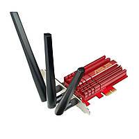Сетевой адаптер Asus PCE-AC68, PCI-E, Wi-Fi 802.11a/b/g/n/ac, 2.4/5GHz, до 1900 Mb/s, 3 внешние съемные антенны