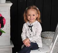 Детская рубашка с удлиненной спинкой и рукавом-трансформером