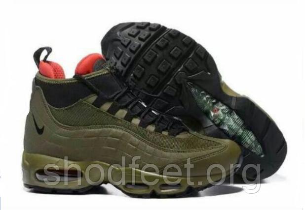 Мужские кроссовки Nike Air Max 95 Sneakerboot Cargo Khaki