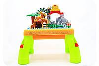 Детский конструктор столик аналог лего (lego) Зоопарк арт. 3688А