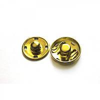 Кнопка пришивная D15 мм металл (золото)