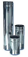 Труба нержавеющая для дымоходов 130 мм, длиной 500 мм