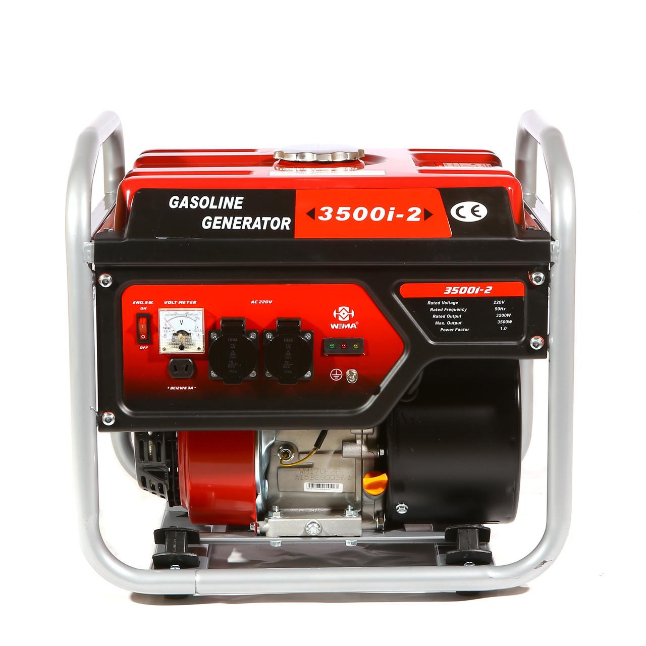 Генератор бензиновый инверторный WEIMA WM3500і-2 (3,5 кВт, инверторный, 1 фаза, ручной старт), фото 1