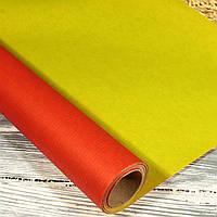 Подарочная ПЛОТНАЯ крафт-бумага в рулоне двухсторонняя 50 см*10 м)