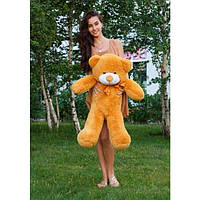 Плюшевая игрушка медведь, мишка 100 см, карамельный.