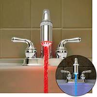 Светодиодная подсветка – насадка на кран Water Glow  LED для декоративного освещения ванной комнаты