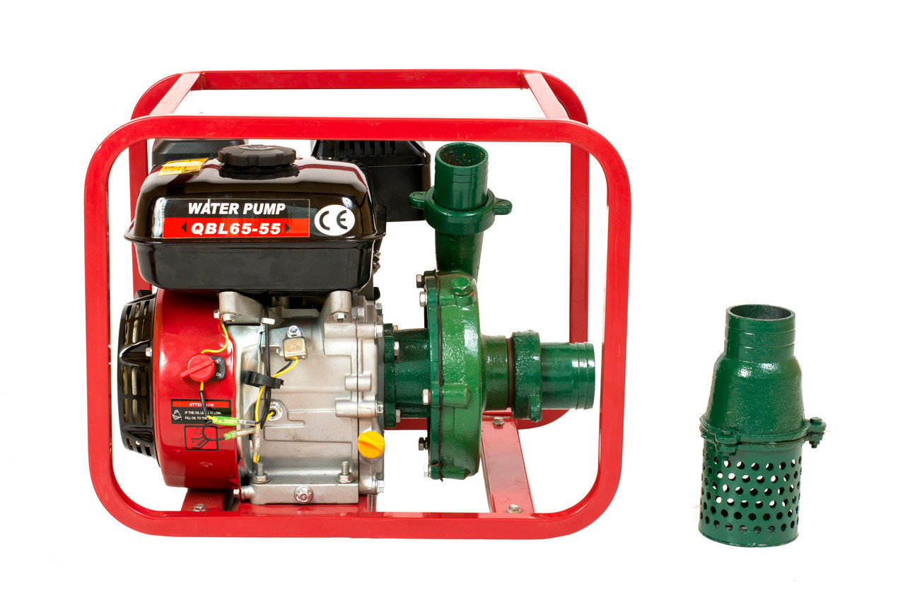 Мотопомпа бензиновая WEIMA WMQBL65-55 (высоконапорная для капельного полива, 35 куб.м/час), фото 1