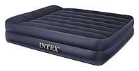 Надувная двуспальная кровать Intex 66702 с насосом