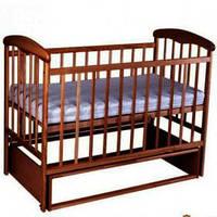 Наталка Детская кроватка Наталка Маятник темная