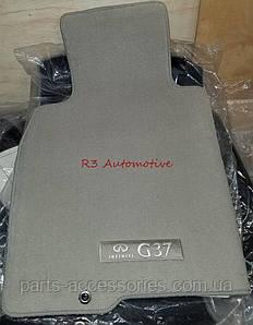 Infiniti G37 купе 2008-13 коврики в салон велюровые серые передние задние Новые Оригинал