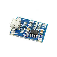 TP4056 1A контроллер заряда Li-ion аккумуляторов Micro USB