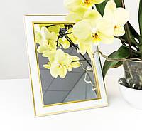 Зеркало в багете, зеркала настольные, зеркала настенные, зеркало с подставкой, 2313-14, фото 1