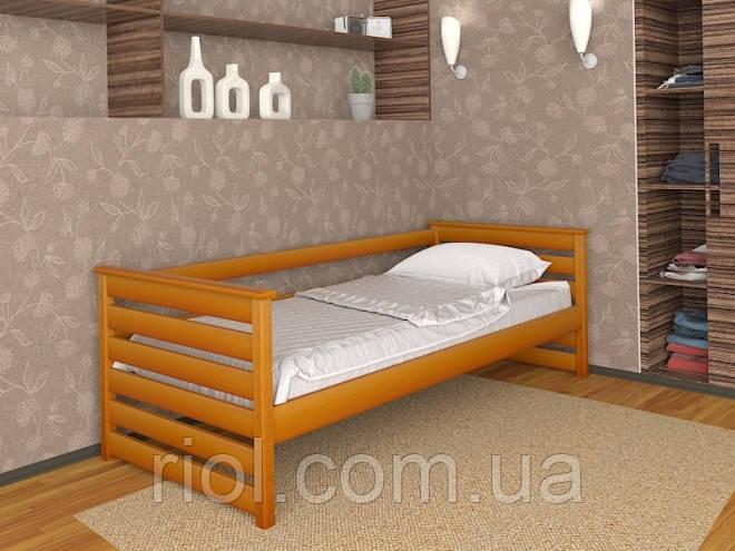 Ліжко Телесик односпальне з масиву бука