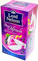 Чай Цветок фрукта дракона и черной смородины Lord Nelson Pure Miracle 20 пакетов.