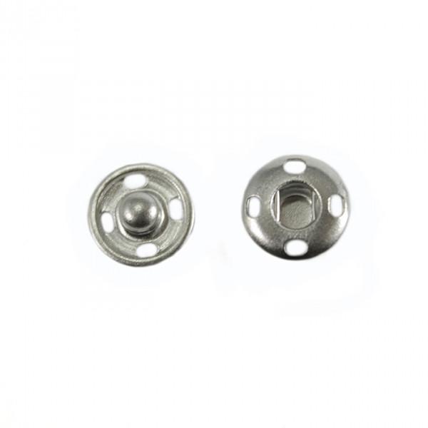 Кнопка пришивная метал D10мм -никель (уп-100шт)
