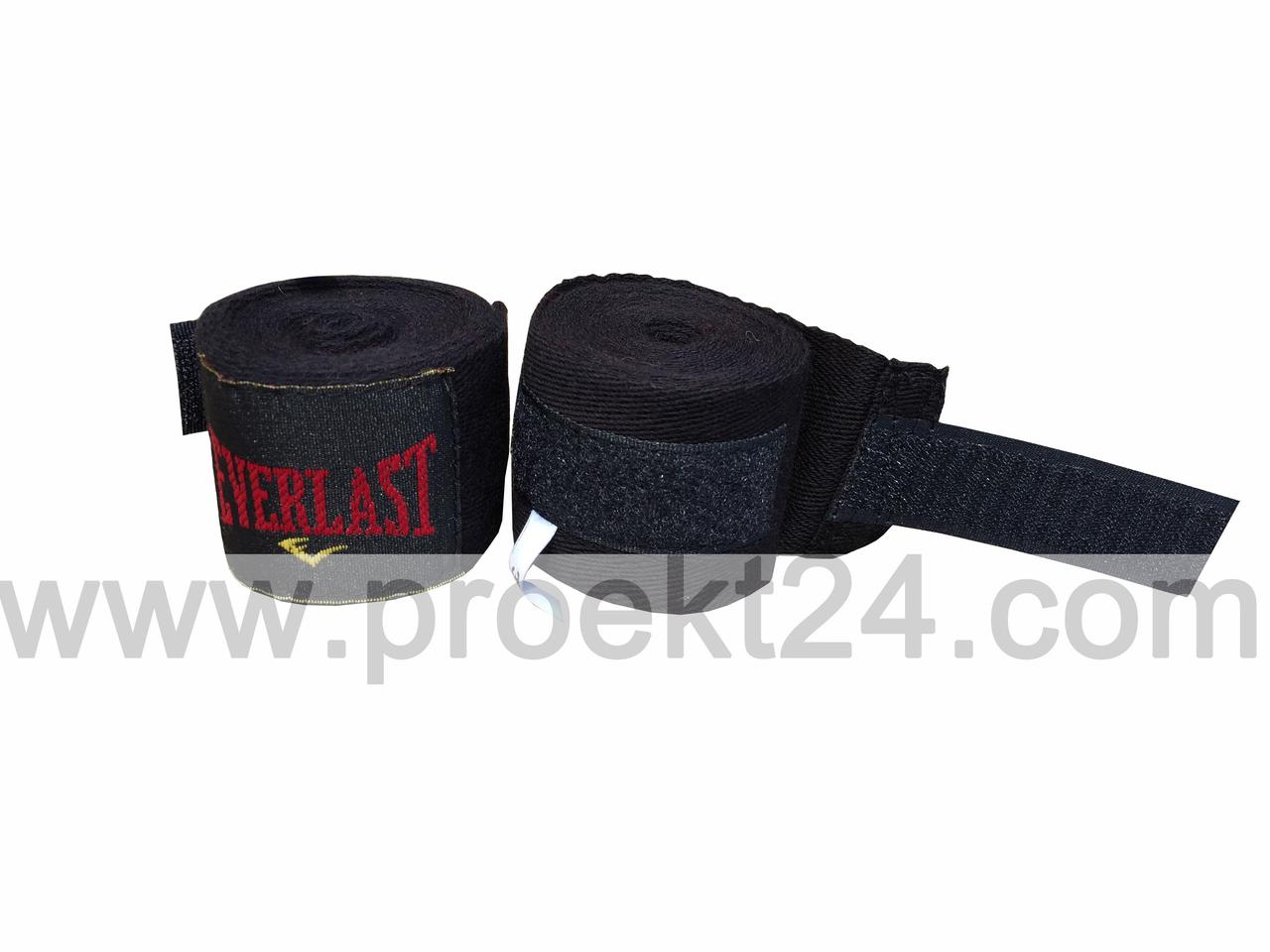 Бинты боксерские EVERLAST черные 2шт 3м