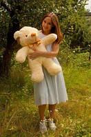 Плюшевая игрушка медведь, мишка 100 см, кремовый