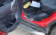 Накладки на пороги Honda CR-V 3 (накладки порогов Хонда СРВ 3)