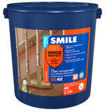 Sl-42-2.3л Лак для дерева и минеральных поверхностей «SMILE WOOD PROTECT» глянцевый