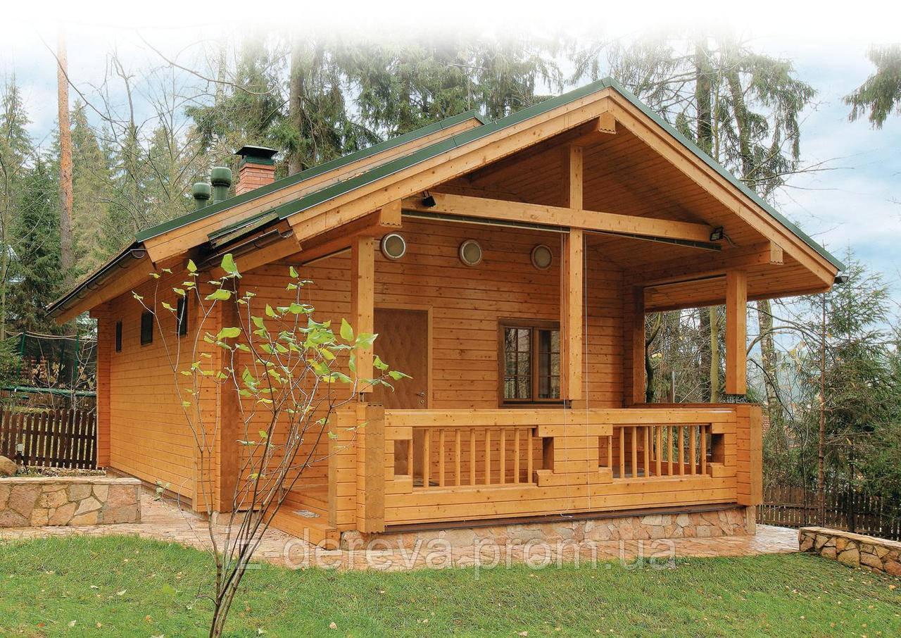 №1 Баня из профилированного бруса - ДеревоДомик в Закарпатской области