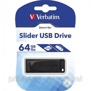 Флеш память Verbatim Slider USB 64GB (98698)