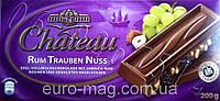 """Шоколад """"Chateau"""" Rum Trauben Nuss, молочный с ромом, изюмом и дробленым фундуком, 200г"""