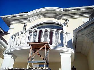 Балюстрада бетонная в Новоселках | Балясины белые в Киевской области 1