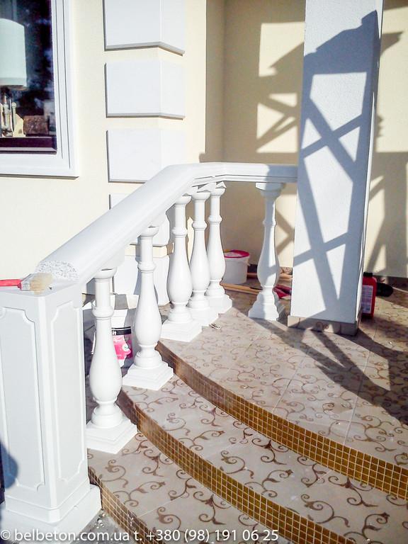 Балюстрада бетонная в Новоселках | Балясины белые в Киевской области 5