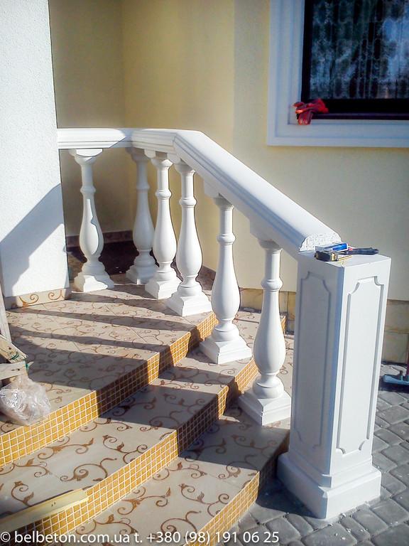 Балюстрада бетонная в Новоселках | Балясины белые в Киевской области 6