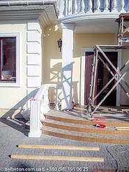 Балюстрада бетонная в Новоселках | Балясины белые в Киевской области 7