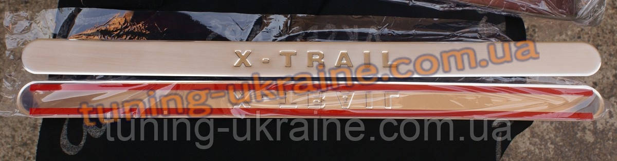 Накладки на пороги Omsa на Nissan X-Trail 2001-2007 - ООО Tuning Avto в Харькове