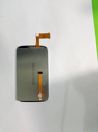 Модуль (сенсор+дисплей) для HTC T328e Desire X чорний, фото 2