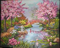 "Картина по номерам (40*50 см) ""Цветущий сад"" G182"