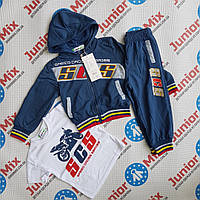 Детский  спортивный трикотажный костюм для мальчика тройка  goloxy