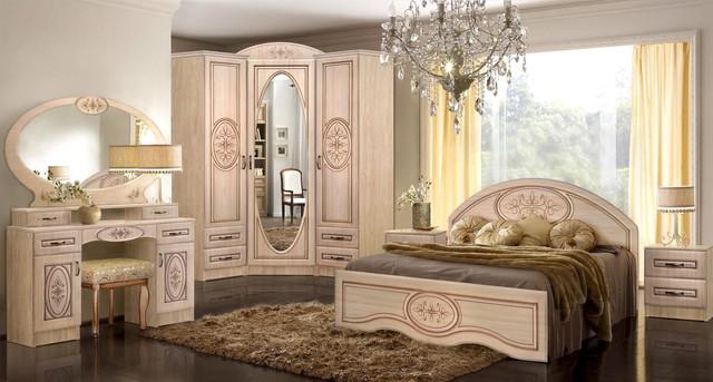 Модульная спальня Василиса береза