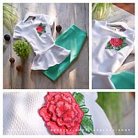 Костюм белая блузка  с узкой юбкой