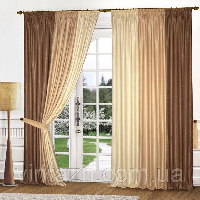 Комплект шикарных штор для спальни