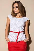 Блуза ажурная 1860, белая блузка
