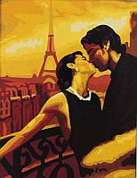 Картины по номерам Поцелуй в Париже G109