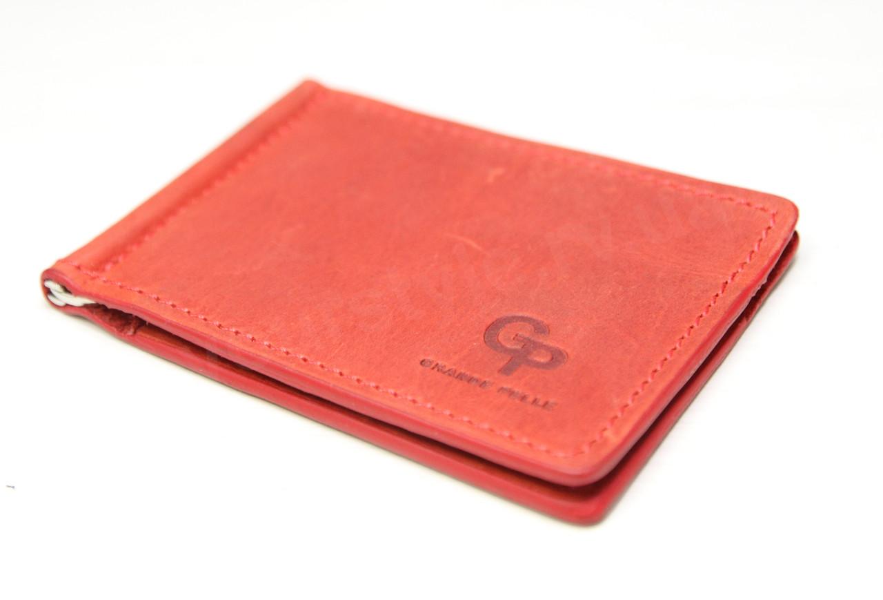 Зажим для купюр кожаный Grande Pelle (10421) (10223)