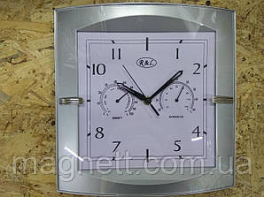 Часы настенные с термометром и измерителем влажности