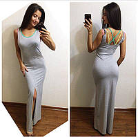 Женское стильное платье в пол (2 цвета)