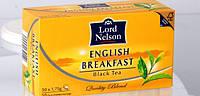Чай Английский черный Lord Nelson English Breakfast 50 пакетов.