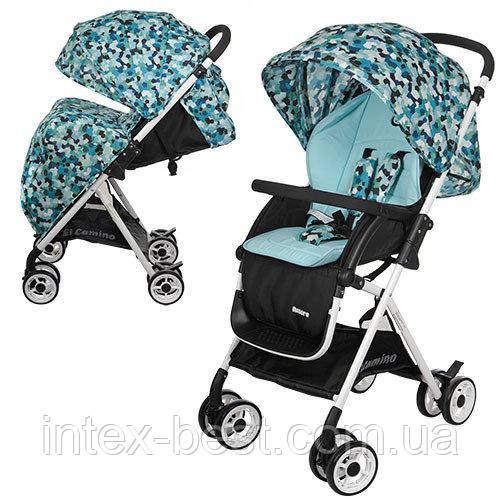 Детская прогулочная коляска AMORE Голубая M 3405-12