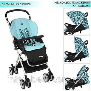 Детская прогулочная коляска AMORE Голубая M 3405-12, фото 2