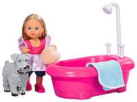 Набор с куклой Эви Купание щенка, Steffi & Evi Love