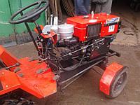 """Адаптер-мототрактор ТМ """"Ярило"""" (для мотоблоков водяного охлаждения, приводные ремни внизу, + колеса), фото 1"""